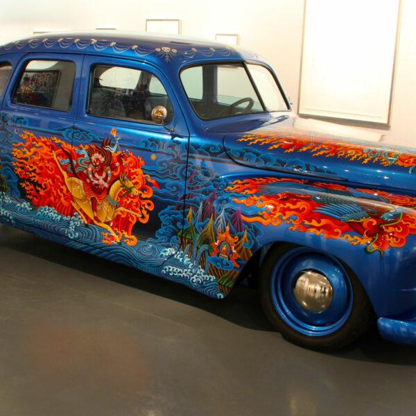 """""""Free Tibet,"""" Art Car by Ann Harithas"""