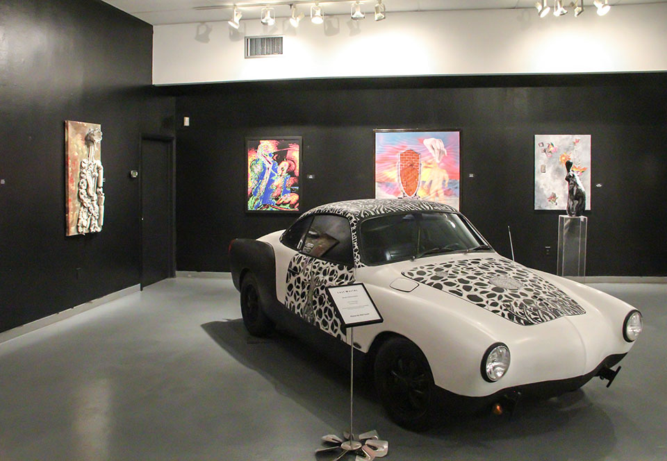 "11th Annual Open Call Show, ""Lives Matter"", Installation view Art Car Museum, 2016"