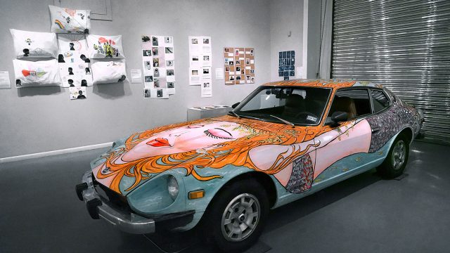 """FotoFinish, Literacy Through Photography"", installation view Art Car Museum, 2017"
