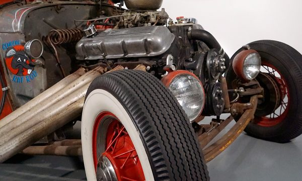"""""""Rat Rod Review"""", installation view at the Art Car Museum, 2017 - 2018"""