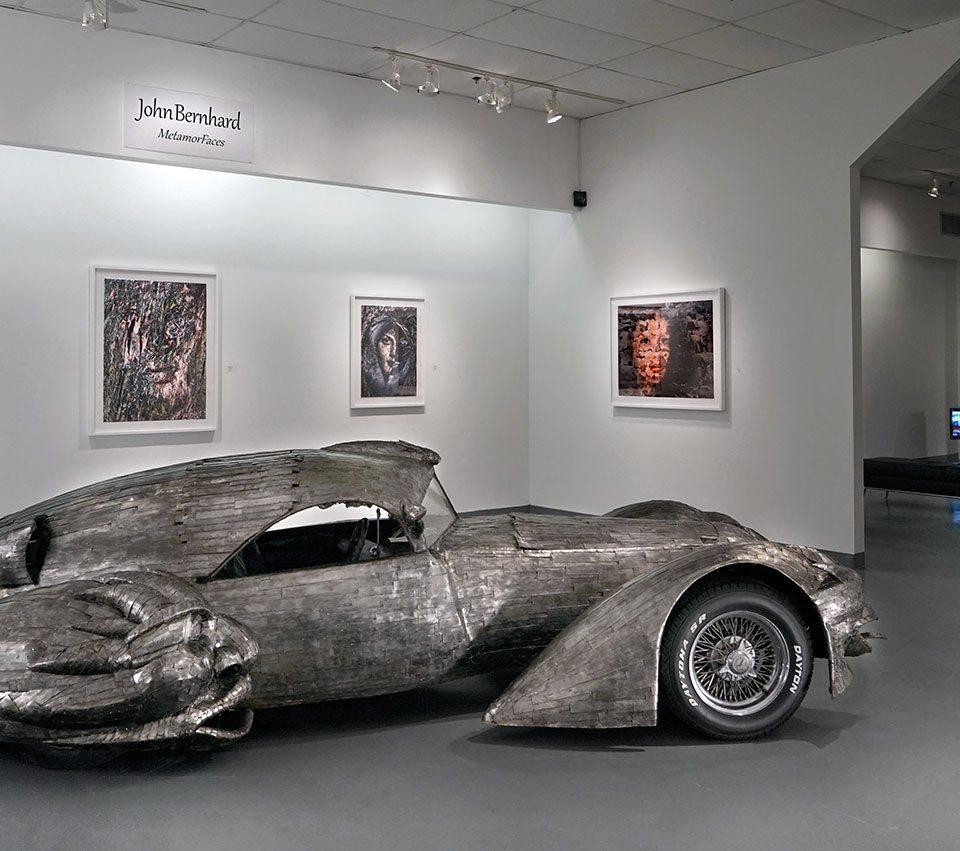 """Phantom"" by W.T. Burge, FotoFest 2018, installation view Art Car Museum 2018"