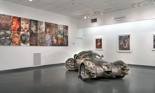 "John Bernhard, ""Phantom"" by W.T. Burge, FotoFest 2018, installation view Art Car Museum 2018"