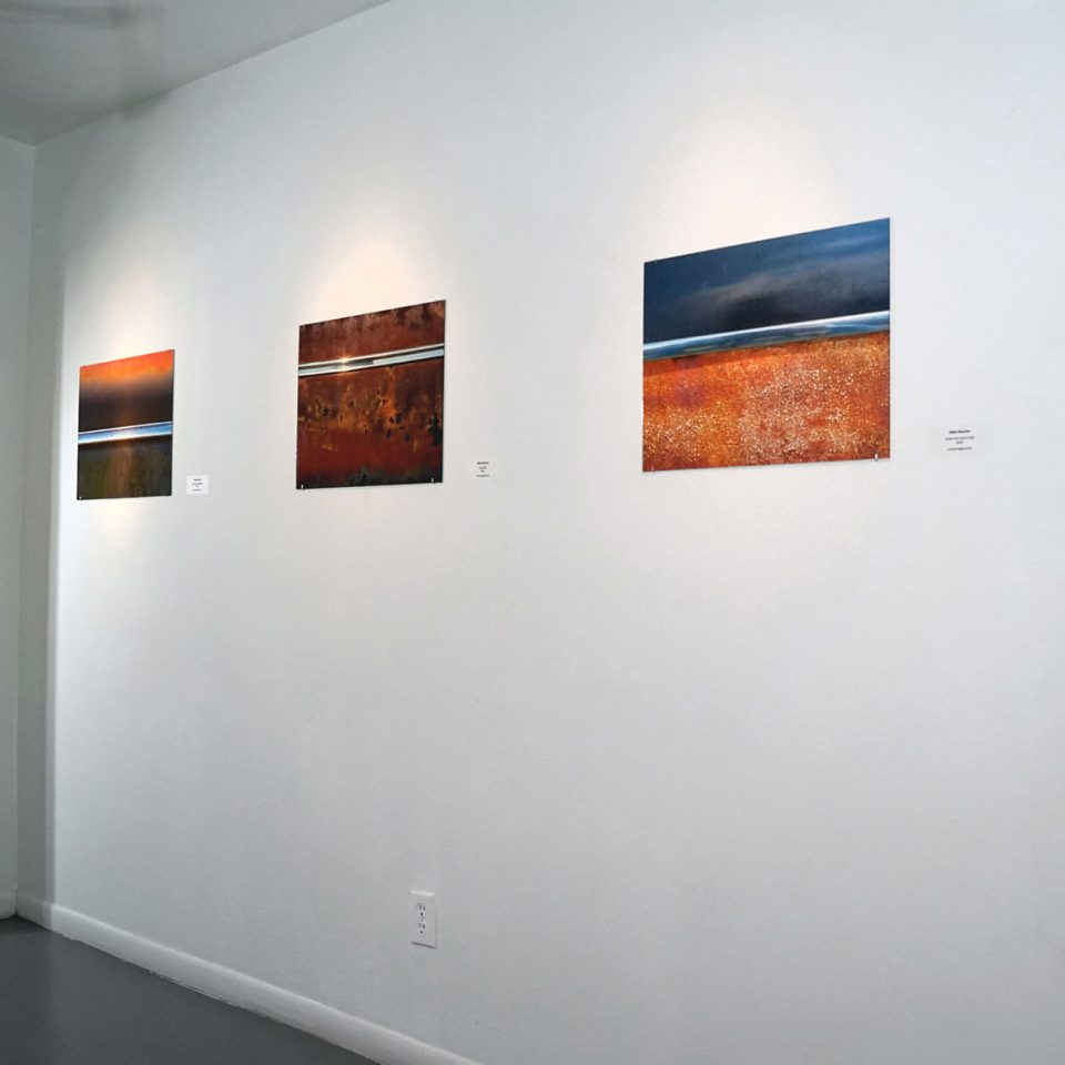 """Allen Bourne, photographic series: """"Out of Doors"""", installation view at the Art Car Museum, 2018"""