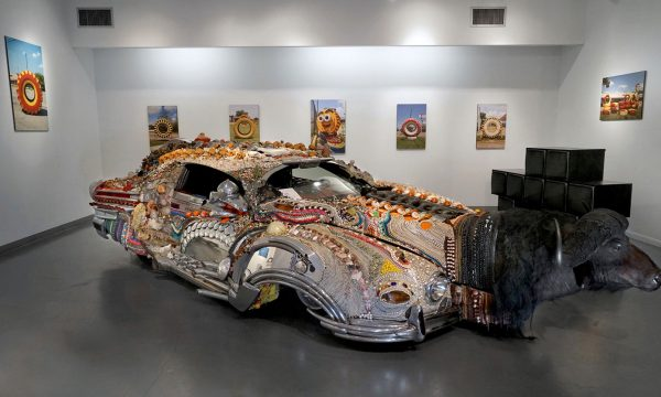 """David Best, """"Faith"""": """"Celebration of Art Cars"""", 20th Anniversary of the Art Car Museum, installation view, 2018"""