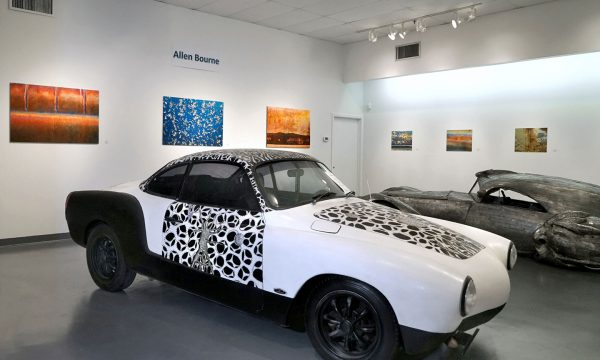 """Noah Edmundson, """"Lost Worlds"""": """"Celebration of Art Cars"""", 20th Anniversary of the Art Car Museum, installation view, 2018"""
