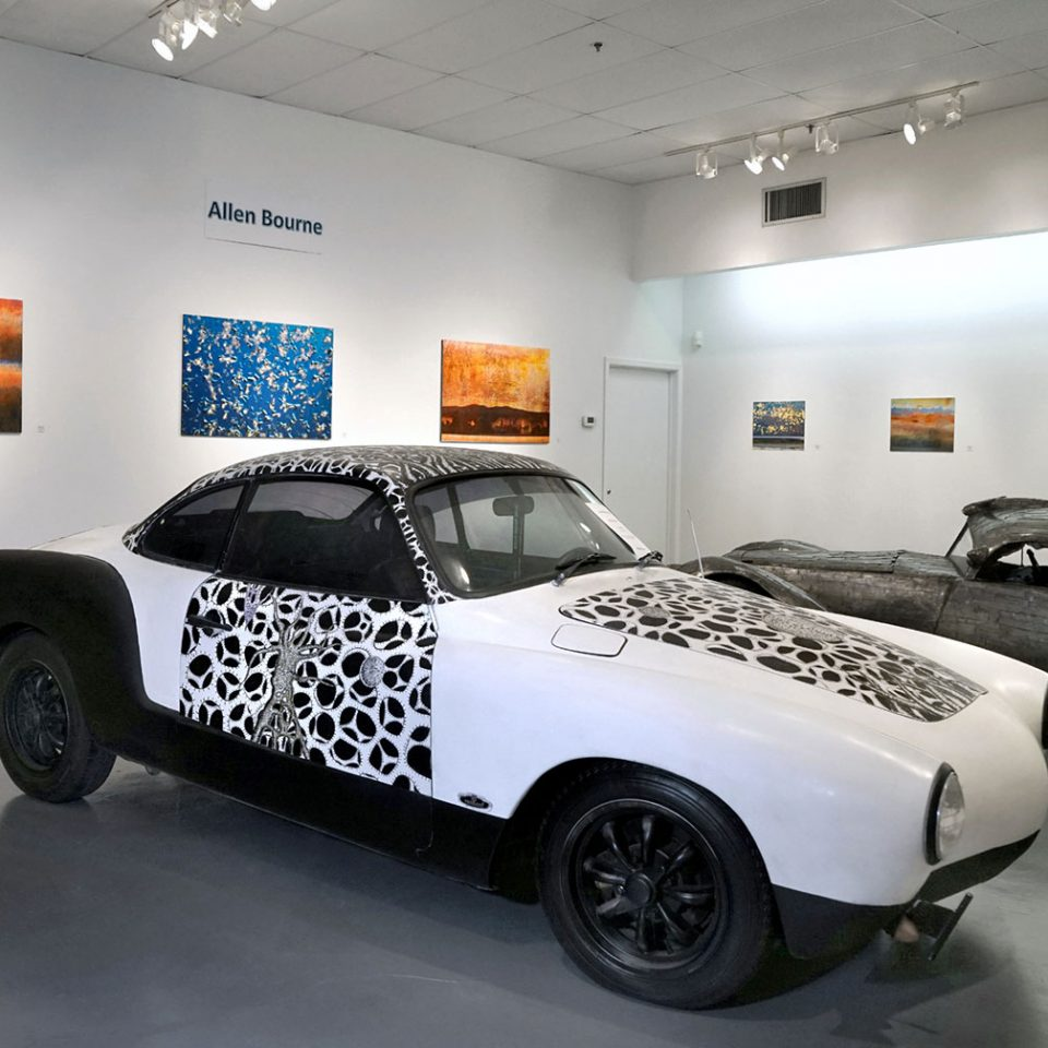 "Noah Edmundson, ""Lost Worlds"": ""Celebration of Art Cars"", 20th Anniversary of the Art Car Museum, installation view, 2018"