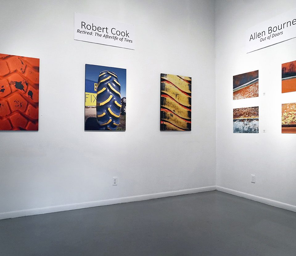 Robert Cook and Allen Bourne, installation view at the Art Car Museum, 2018