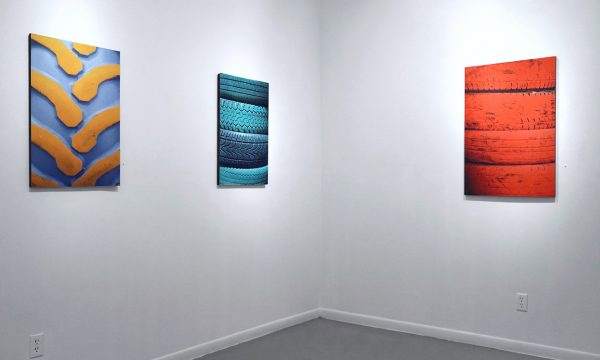 """Robert Cook, photographic series: """"Retired"""", installation view at the Art Car Museum, 2018"""
