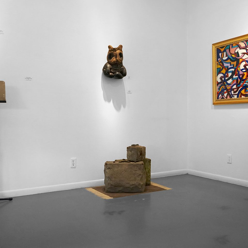 """Then and Now"", Installation view at the Art Car Museum, 2019"