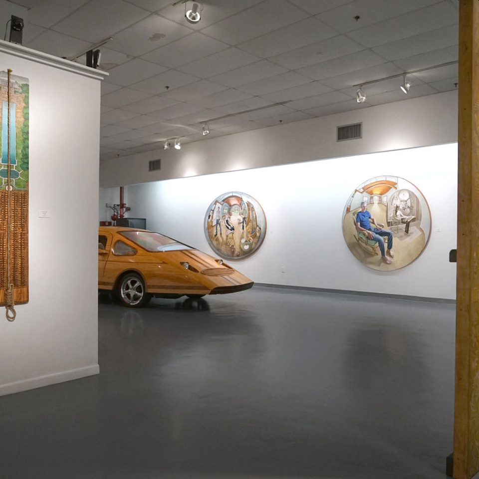 """Fernando Casas, """"LIMITS AND PROXIMITIES, A survey of works spanning four decades"""", installation view at the Art Car Museum, 2019"""