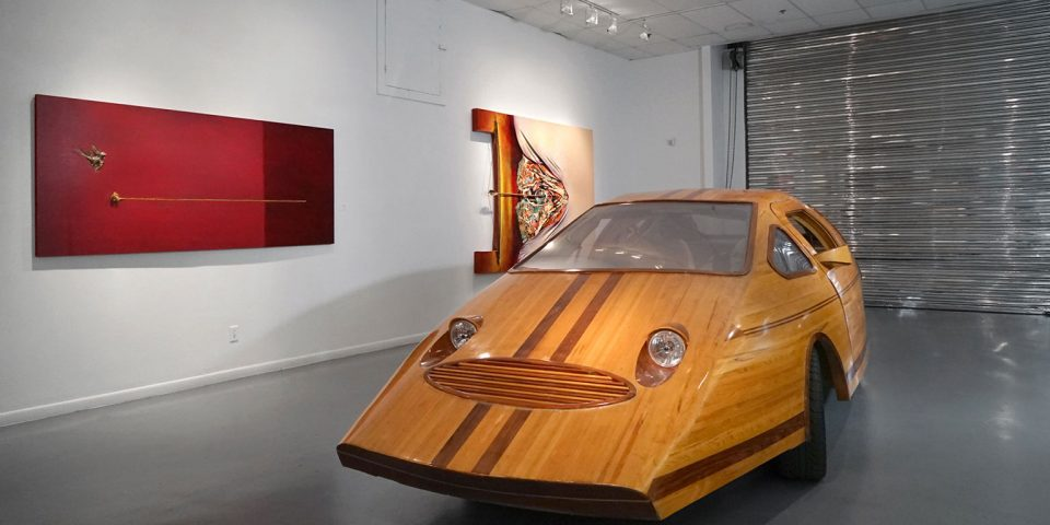 "Fernando Casas, ""LIMITS AND PROXIMITIES, A survey of works spanning four decades"", installation view at the Art Car Museum, 2019"