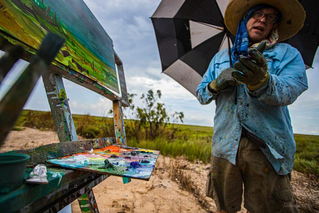 """Artist: Brian Zievert, """"Weathered Artist,"""" Photo by Manny Marciniega"""